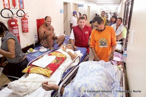 De gang van een publiek ziekenhuis in Natal