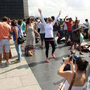 Toeristen in Rio bij het Christusbeeld