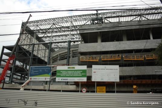 Het WK-stadion in Curitiba in februari 2014.