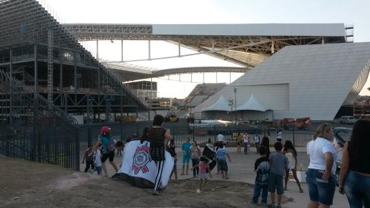 Het WK-stadion in São Paulo in mei 2014