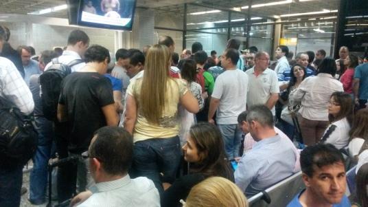 Chaos op het vliegveld van São Paulo