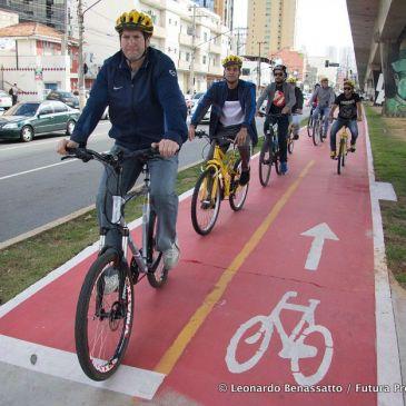 Er worden steeds meer fietspaden aangelegd in São Paulo