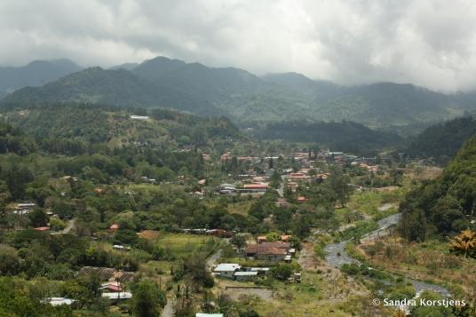 Uitzicht over Boquete.