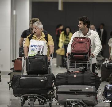 Brazilianen reizen vaak met veel bagage