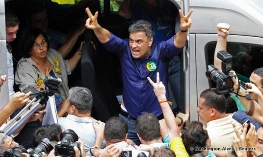 Aécio Neves verloor de verkiezingen nipt van Dilma Rousseff