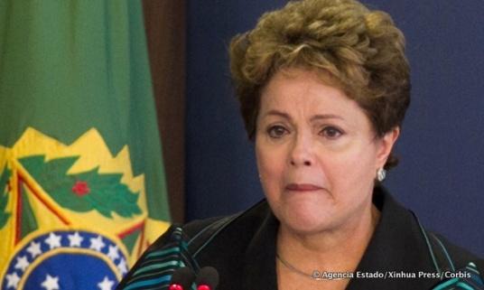 Dilma Rousseff tijdens haar toespraak